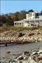 The Cliff Walk, with its historic mansions and coastal scenery, is one of the top attractions in Newport, R.I. The trail passes by some of Newport's most elegant estates.