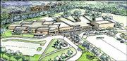 This is an architectural rendering produced by Gould Evans Associates for the proposed new South Junior High School and renovated Broken Arrow School. Four Lawrence architecture firms on Monday will present to the Lawrence school board preliminary drawings of major projects in the board's proposed $59 million bond issue.