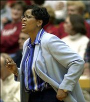 Tennessee State athletic director Teresa Phillips coaches the men&#39;s