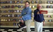 "Whether your taste is for Springsteen on CD or ""Rocky"" on DVD the new business CD Tradepost at 4000 W. Sixth St. can help you find a used copy. Store manager Clark Morton, left, and his father and store co-owner, Jerry Morton, hope the new business on the west side of town will be a success."