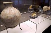 "Artifacts are displayed in the Basel, Switzerland Antiquities Museum. The show ""7,000 years of Persian Art"" comprises chiefly loans from the Iranian National Museum in Tehran."