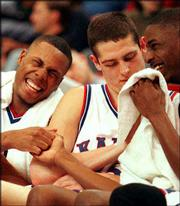 Paul Pierce and Raef LaFrentz