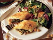 This Savory Hazelnut and Asparagus Strudel is a creation of chef Sarah Stegner, executive chef of the Ritz-Carlton's Dining Room in Chicago. The strudel was a prize-winner in an American Hazelnut Council recipe contest.