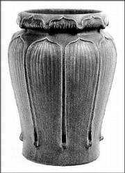 This grueby vase was out of style from the 1920s to the 1970s. Today, Grueby vases sell for $27,500.