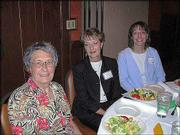 "From left, Alita Cooper, Lynn Mraotz and Terri Varuska attend the Douglas County Child Development Assn.&squot;s ""Early Educator Recognition Event"" at the Hereford House, 4931 W. Sixth St. Cooper was honored for 49 years in the field of early childhood education. Marotz and Varuska, of Edna Hill Child Development Center, also were honored."