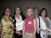 "From left, Gayle Jackson, Marietta Winfrey, Marie Treichel, Debbie Filkens and Deb Danielson attend the first Douglas County Child Development Assn. ""Early Educator Recognition Event"" at the Hereford House. Jackson was honored May 3 for participating in the DCCDA Child & Adult Care Food program for more than 20 years."