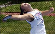 Emsick hurls a discus. Emsick, a Council Bluffs, Iowa, native, also has qualified for the U.S. Olympic Trials.