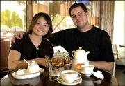 Fanny Shiau and her husband, Gary Patterson, serve a variety of teas with ingredients directly imported from Taiwan, Japan and Europe in their new business House of Cha', 21 W. Ninth St. Teas are served in the traditional method, depending on the country of origin.