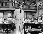 "Gregory Peck as Atticus Finch in 1962&squot;s ""To Kill a Mockingbird."""