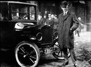 Henry Ford is pictured with a Model T in Buffalo, N.Y. The picture was taken in 1921 when about 1 million Model T's were produced.