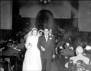 Donna and Floyd Landreth on their wedding day in October 1953.