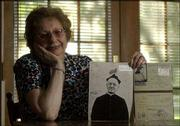 """Holocaust survivor Eva Edmands hid with her family during World War II in a rectory, where they were cared for by a French priest, L&squot;abbe Claudius Longeray, shown in the photograph. Edmands now lives in Lawrence. On Thursday, Alan Berger, a Holocaust scholar, will speak at the Lawrence Jewish Community Center about the experience of """"hidden children"""" like Edmands."""