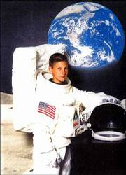 Ryan Chaney, 14, Lawrence, just completed level one of the Future Astronaut Training Program at the Kansas Cosmosphere, Hutchinson. Ryan, an eighth-grader at South Junior High School, spent a week at the camp. He is the son of Kevin Chaney, Lawrence.