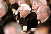 Cardinal Bernard Law, former archbishop of Boston, attends the U.S. Conference of Catholic Bishops meeting in St. Louis.