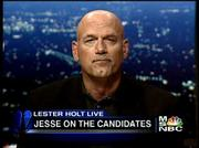 "Months after announcing that he would soon get his own nightly cable show on MSNBC, former Minnesota Gov. Jesse Ventura has yet to hit the airwaves on a regular basis. MSNBC has eased Ventura into its schedule with short segments during the ""Lester Holt Live"" show, including this June 19 appearance."