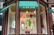 This is a view of a retail clothing store on Newbury Street in Boston which features the trademark colorful Lilly Pulitzer fashion line, made famous in Florida in the 1960s.