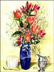 A silkscreen drawing by longtime Countryside Garden Club member Joyce Schild adorns the club's program cover.