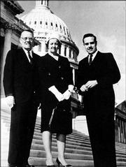 Dole's parents, Doran and Bina, paid a visit to their son in 1963 during his second term in Congress.