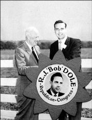 President Dwight D. Eisenhower helped Dole in his first campaign for Congress in 1960.