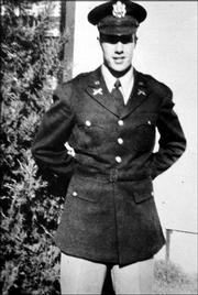 Bob Dole as a second lieutenant fresh out of Officer Candidate School in 1944.