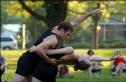 Lawrence's Bowery Dancers end their inaugural summer season of free outdoor concerts at 4:30 p.m. and 7:30 p.m. today in South Park.
