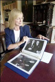 Susan Pogany, Lawrence, tells of her grandfather Sam Roberts, who was one of President Harry S. Truman's personal physicians. The book, which was put together by Pogany's grandmother, includes a picture of Truman and Roberts, along with a letter about health care that Truman wrote to Roberts.