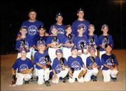 The 8-year-old Tigers display their trophies after winning second place in the Douglas County Amateur Baseball Assn. end-of-season tournament. Back row, from left, are coaches Darin Denning, Mike Willoughby and Joe Caldwell. Second row, from left, are Austin Twombley, Carlos Florez, Danielle Sidor, Adam Rea, Andrew Denning, Jacob Caldwell and Cody Scott. Front row, from left, are Brandon McCaffrey, Ben Wilkinson, Shane Willoughby, Michael Kressig, Jake Mosiman and Scott Sickinger. All are of Lawrence. Julie Rea submitted the picture.