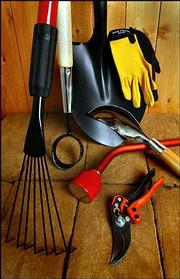 High quality and affordablity are essential for buying tools, a California master gardener says. Sometimes gardeners need to make homemade tools such as a watering wand, shown above in center.
