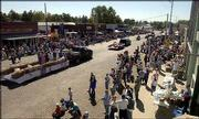 The streets are filled as the annual Wellsville Days parade winds its way through the Franklin County town. This year, the parade honored Jake Butler, a serviceman killed in Iraq in April. At the conclusion of Saturday's parade, Jake's parents accepted a Silver Star awarded to their son posthumously.