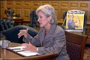 Gov. Kathleen Sebelius is beginning her ninth month in office.