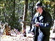 Columbine gunman Dylan Klebold is shown firing a sawed-off shotgun in this image made from video released by the Jefferson County (Colo.) Sheriff's Department. According to authorities, the tape was made six weeks before Klebold and Eric Harris attacked Columbine High School on April 20, 1999.