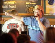 "Jeremy Swedlund, Topeka, sings ""Rodeo"" by Garth Brooks on karaoke night at Old Chicago."