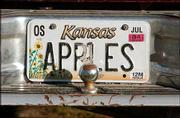 Krause's personalized license plate bears witness to his interests.
