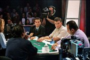 "Poker Players, clockwise from top, Chris Karagulleyan, Stan Goldstein, Mark Seif and Hon Le play cards at The Bicycle Casino in Bell Gardens, Calif., during the televised ""World Poker Tour"" in this September 2002 photo. Playing cards has become one of TV&squot;s hottest programming trends."