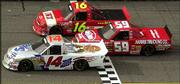 The Truck Series race of the year was the season opener at Daytona, narrowly won by Rick Crawford.