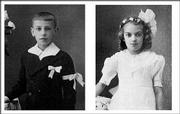 George Gordon, photographed for his first communion at age 7, and his sister Krystyna Budzynski, photographed for her first communion at age 8, are shown in this photo released by the family. The two were reunited after 59 years.