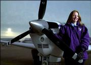 Nancy Milleret, 19, of Tonganoxie, is a sophomore at Kansas State Salina, where she studies airway science. Milleret has been flying airplanes since 2001, when she was a junior at Tonganoxie High School.