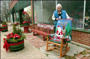 Lecompton resident Dorthy Shaner takes pride in her town. Shaner, 92, spends a lot of time sprucing up the downtown area of the town, which has about 600 residents.