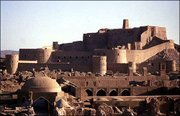 The medieval fortress of the 2,000-year-old city of Bam, Iran, is seen in this photo taken in September 2003. An earthquake devastated Bam on Friday, leveling more than half the city's houses and its historic mud-brick fortress.