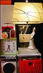 A MOSS LAMP, MOD clocks and radios are some of the items in Elioff's collection.