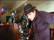 Jeremy Osbern shoots a scene from his short film &quot;The Passion.&quot; The