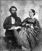 "Charles Leonhardt, shown here with his wife Esther, fought during the Bleeding Kansas era alongside Gen. James Lane and other abolitionists in a secret anti-slavery society known as the Danites. Richmond author Todd Mildfelt chronicles Leonhardt&squot;s life and the workings of the group in his new book, ""The Secret Danites: Kansas&squot; First Jayhawkers."""