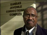 AP Photo James Frazier, deputy commissioner of the Juvenile Justice Authority, stands outside the new Kansas Juvenile Correctional Complex in Topeka. In Gov. Kathleen Sebelius' proposed state budget for 2005, she left out funds to operate the complex, estimated at $11.8 million. Instead, she included $430,000 to pay for utilities at the complex.