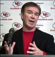 Gunther Cunningham talks to the media about his hiring as the Chiefs' defensive coordinator. Cunningham spoke Tuesday at Arrowhead Stadium in Kansas City, Mo.