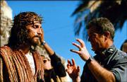 "Mel Gibson, right, directs Jim Caviezel on the set of Gibson&squot;s movie ""The Passion of The Christ,"" in this undated publicity photo."