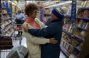 Far from being a shrinking violet, Gary usually greets friends with a hug. While shopping at Wal-Mart recently, he ran into Muriel Agbegg, a McLouth neighbor, who chatted with him for a few minutes.