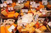 A large selection of osceola cheeses are available for purchase in the deli area of Wines by Jennifer.