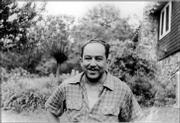 Writer Langston Hughes, circa 1958.