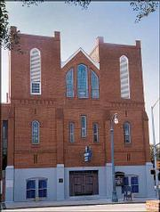 Ebenezer Baptist Church, built in 1922, is being restored to the way it looked from 1960 to 1968.