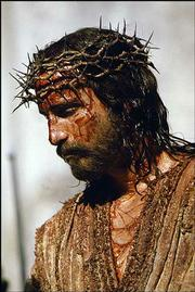 "Jim Caviezel portrays Jesus Christ in ""The Passion of the Christ."""